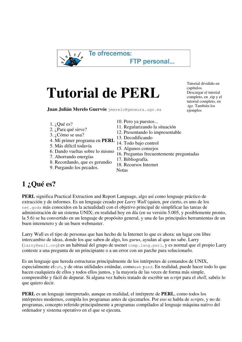 pdf de programación - tutorial de perl