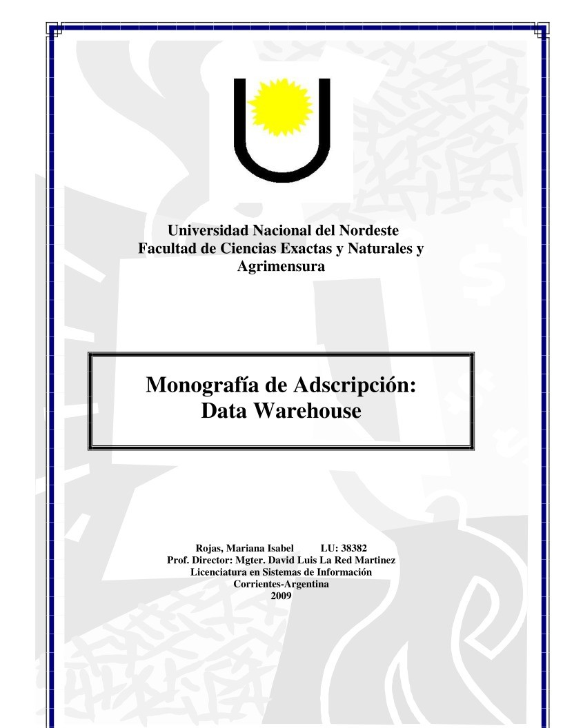 Imágen de pdf Data Warehouse