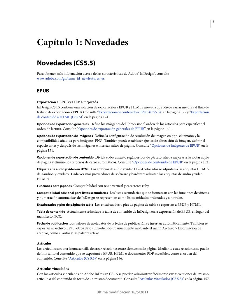 PDF de programación - Uso de ADOBE INDESIGN CS5 & CS5.5