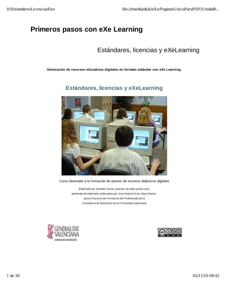 PDF de programación - Primeros pasos con eXe Learning