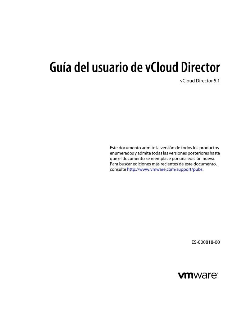 PDF de programación - Guía del usuario de vCloud Director - vCloud ...