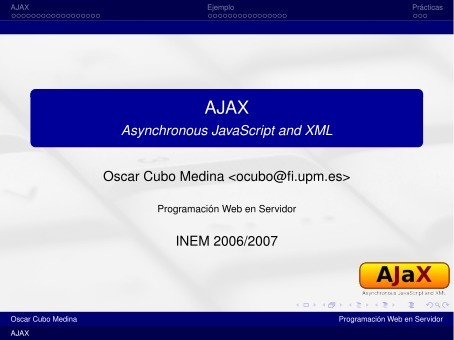 Imágen de pdf AJAX - Asynchronous JavaScript and XML