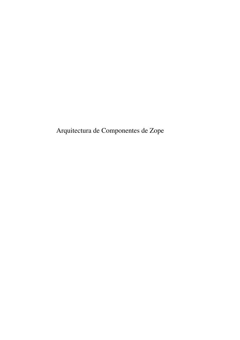 Pdf de programaci n arquitectura de componentes de zope for Diccionario de arquitectura pdf