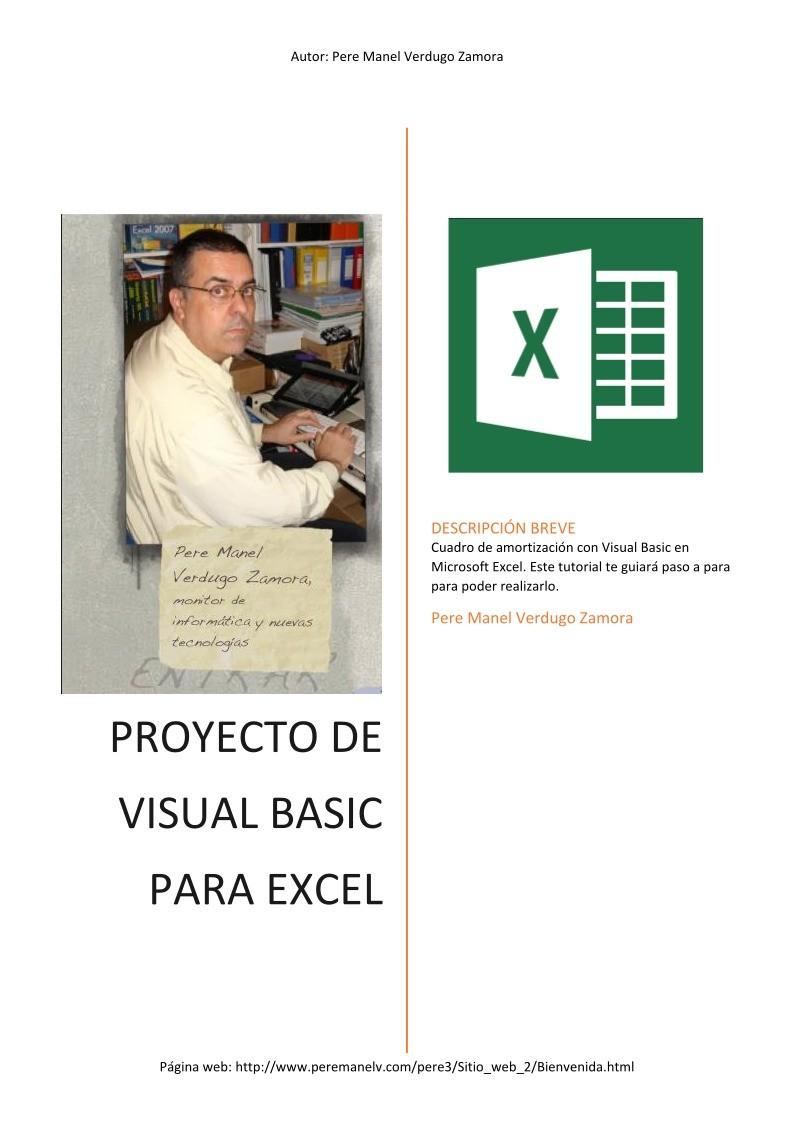 PDF de programación - Cuadro de amortización con Visual