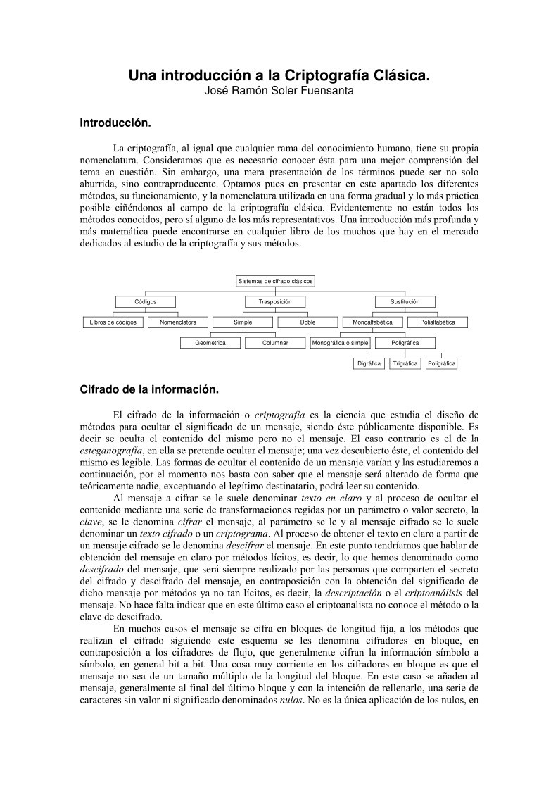 Estad sticas del pdf una introducci n a la criptograf a for Introduccion a la gastronomia pdf