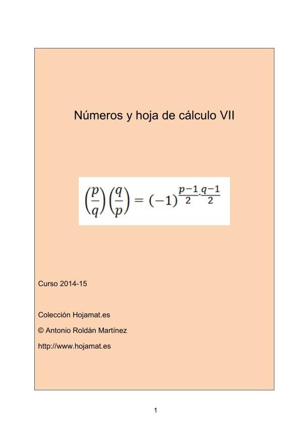 PDF de programación - Números y hoja de cálculo VII