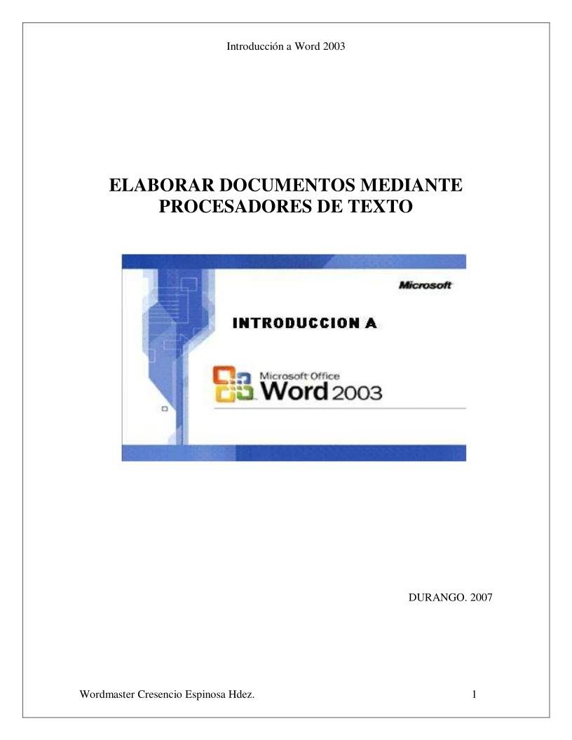 PDF de programación - ELABORAR DOCUMENTOS MEDIANTE PROCESADORES DE ...