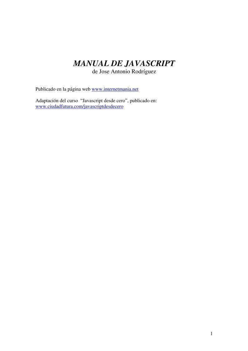 Imágen de pdf Manual de Javascript