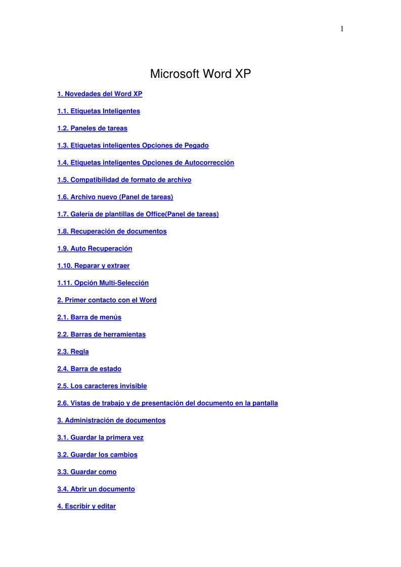 PDF de programación - Microsoft Word XP
