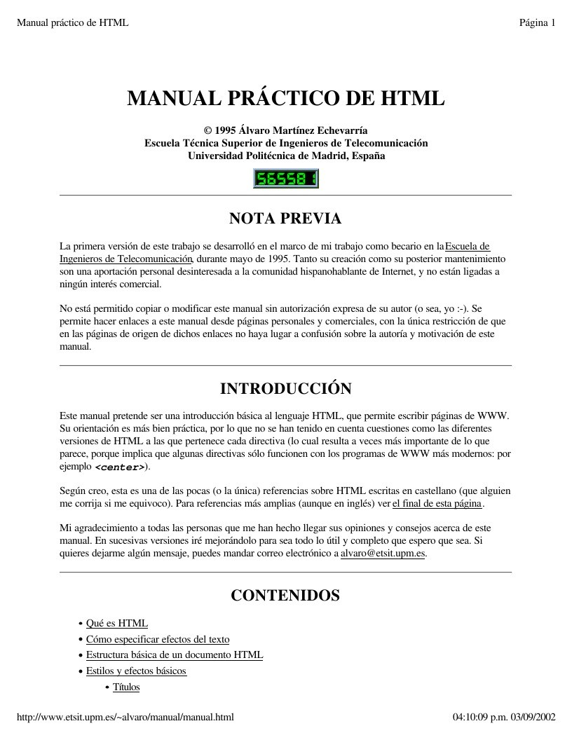 PDF de programación - Manual práctico de HTML