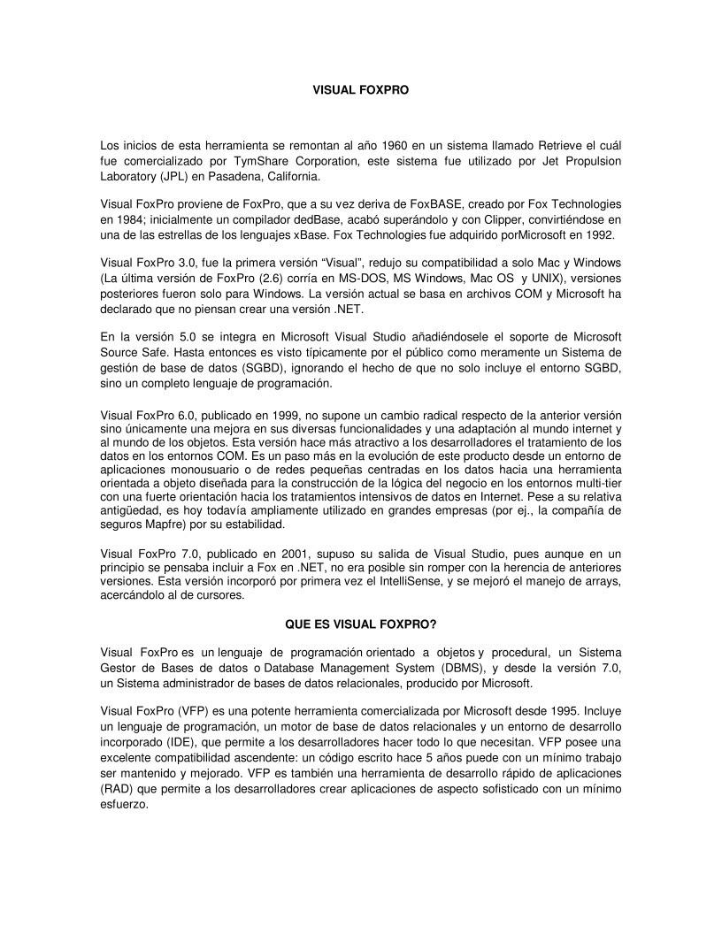 PDF de programación - VISUAL FOXPRO