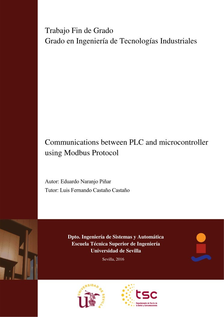 Imágen de pdf Communications between PLC and microcontroller using Modbus Protocol