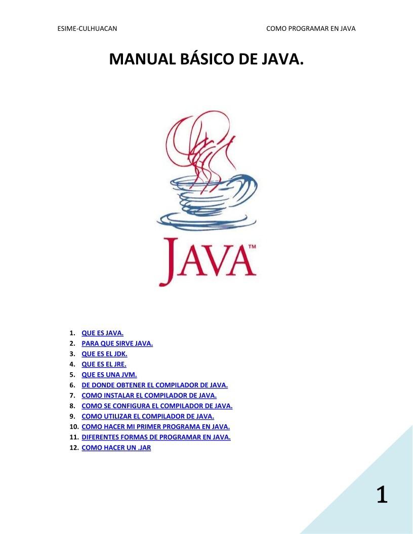 pdf de programaci n manual b sico de java rh lawebdelprogramador com manual programacion java netbeans pdf manual programacion java eclipse pdf