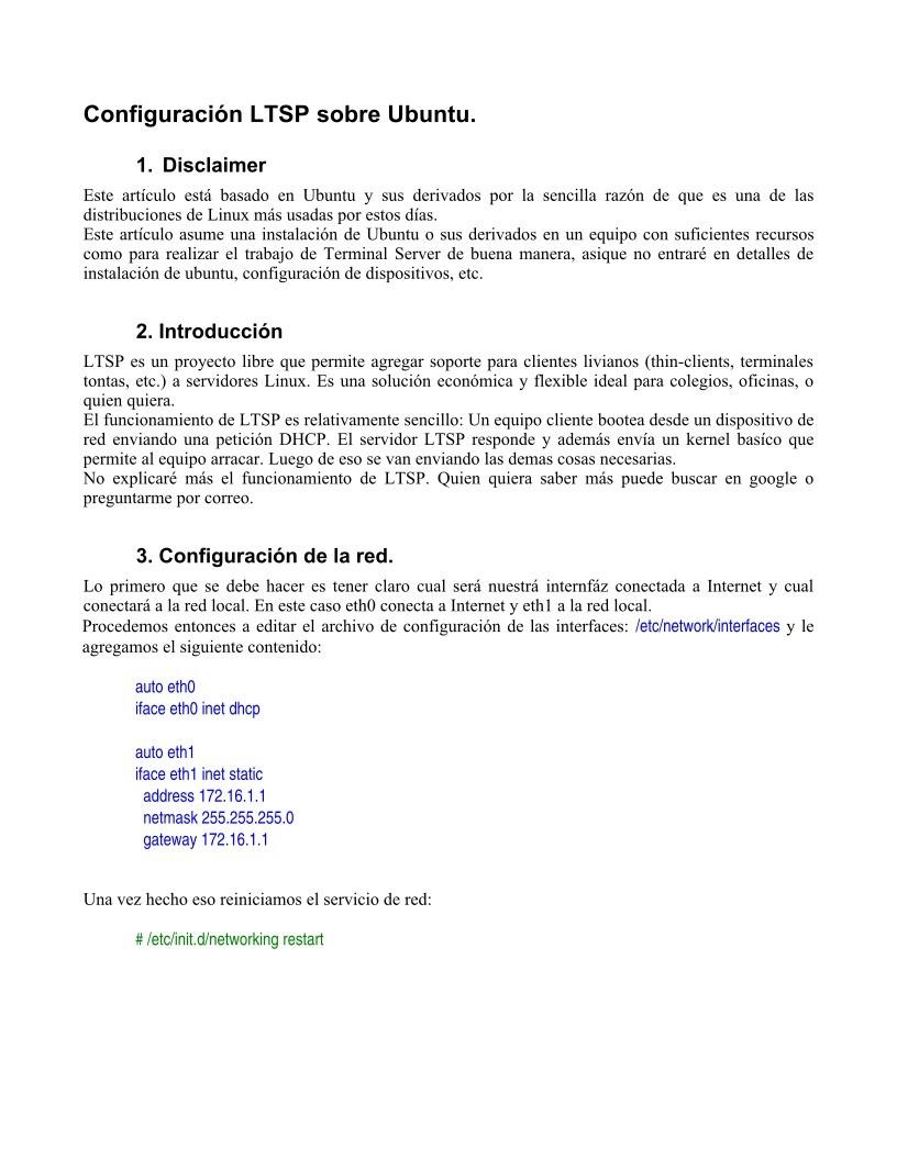 PDF de programación - Configuración LTSP sobre Ubuntu