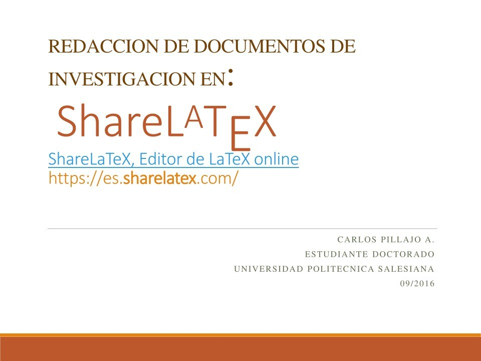 Imágen de pdf ShareLaTeX, Editor de LaTeX online