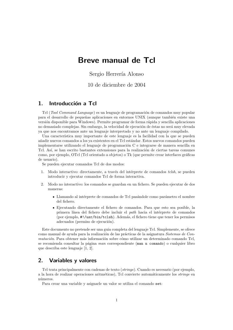 PDF de programación - Breve manual de Tcl