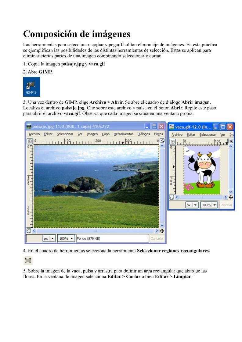 PDF de programación - Composición de imágenes
