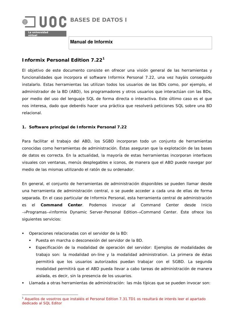 manual informix
