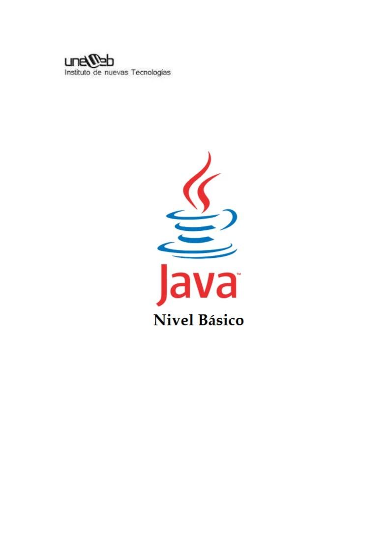 Pdf De Programación Java Nivel Básico