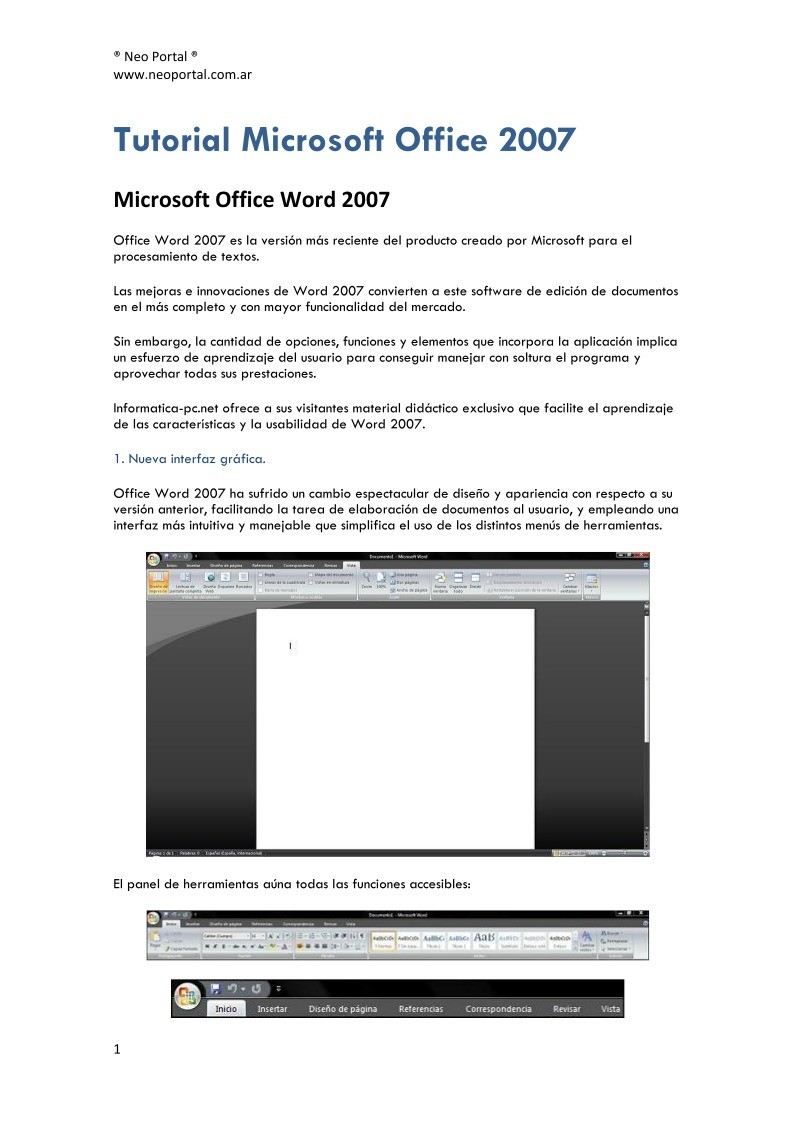 Imágen de pdf Tutorial Microsoft Office 2007