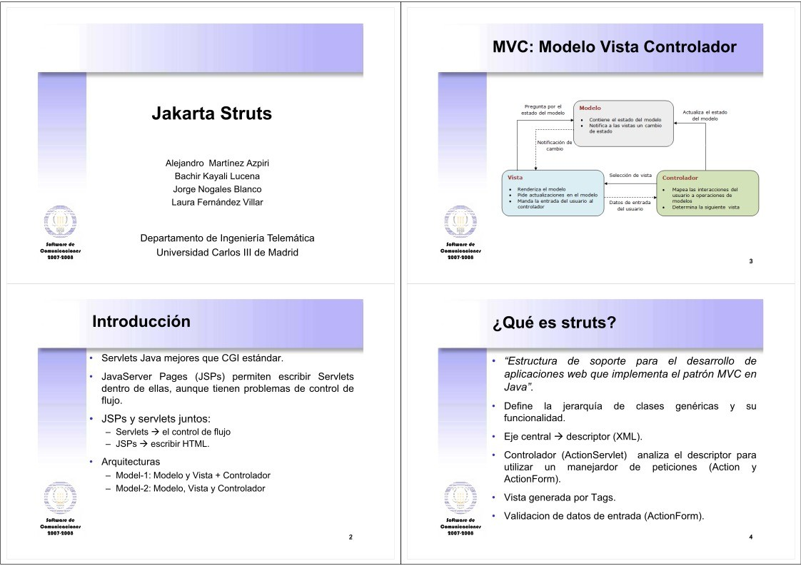 Pdf De Programacion Jakarta Struts