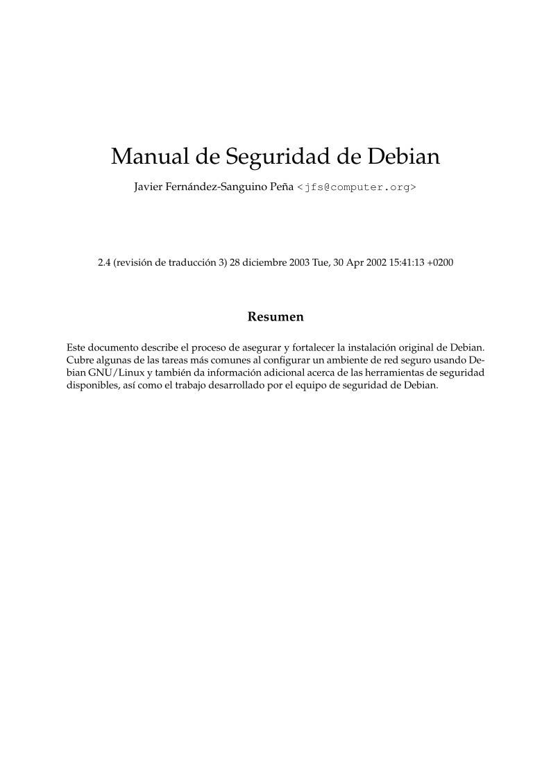 PDF de programación - Manual de seguridad de Debian