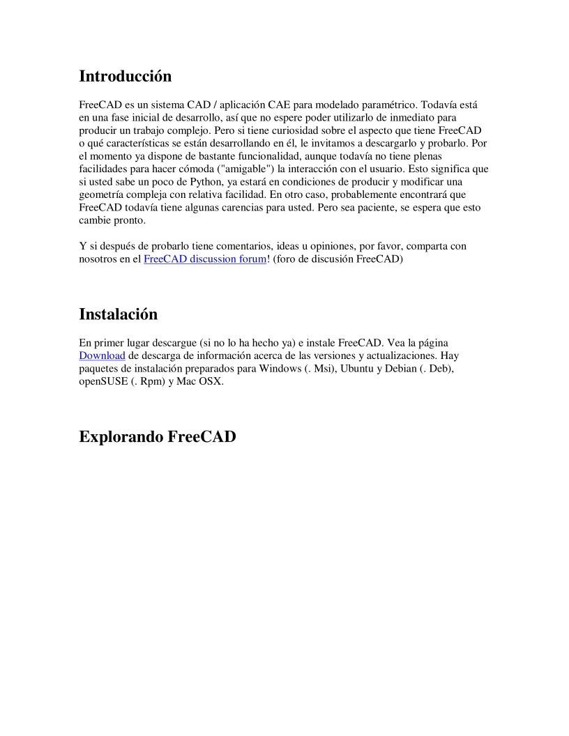 PDF de programación - FreeCAD - Introducción
