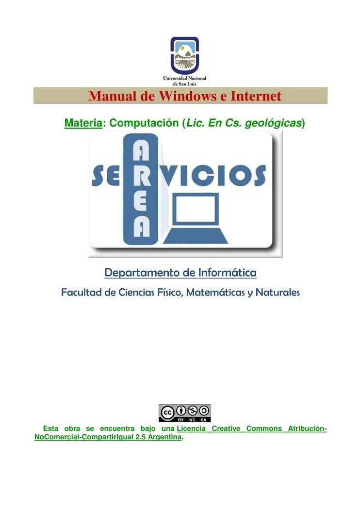 Imágen de pdf Manual de Windows e Internet