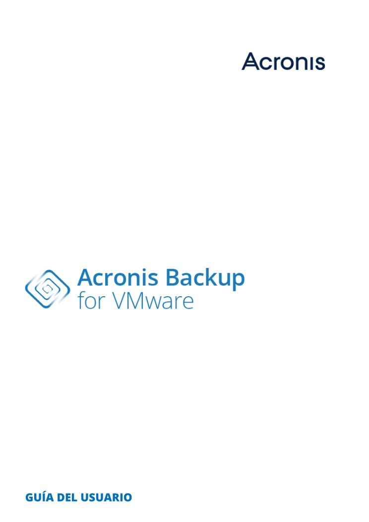 Imágen de pdf Acronis Backup for VMware - Guía del usuario