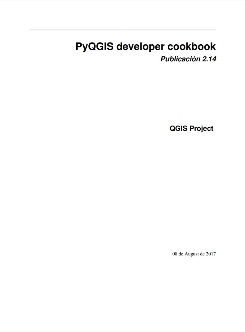 Imágen de pdf PyQGIS developer cookbook