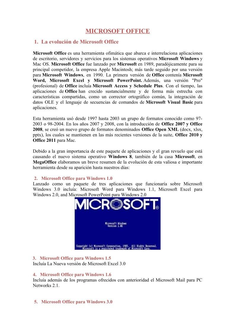 PDF de programación - 1. La evolución de Microsoft Office ...