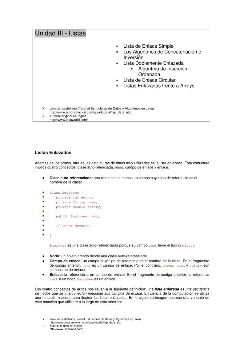 Pdf De Programación Unidad Iii Listas