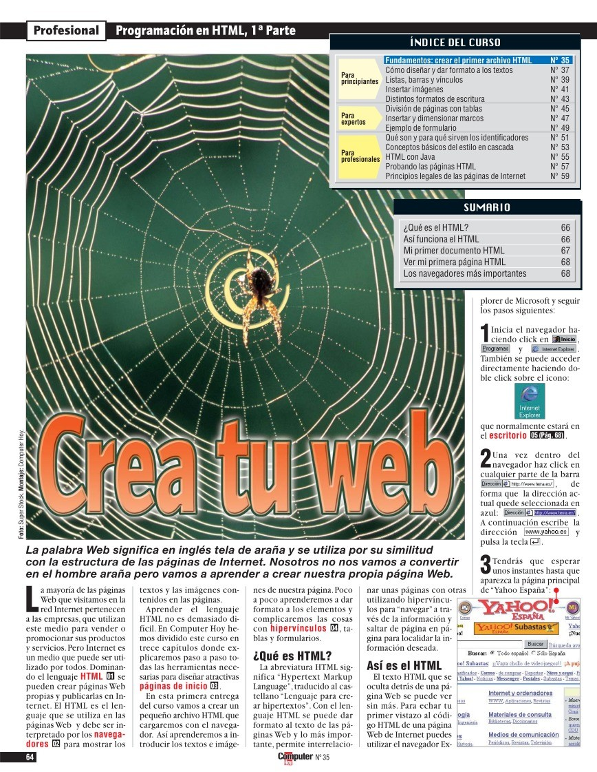 PDF de programación - Crea tu web - Programación en HTML, 1ª parte