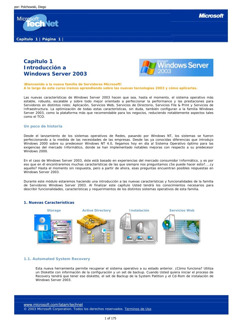 Imágen de pdf Capítulo 1 - Introducción a Windows Server 2003