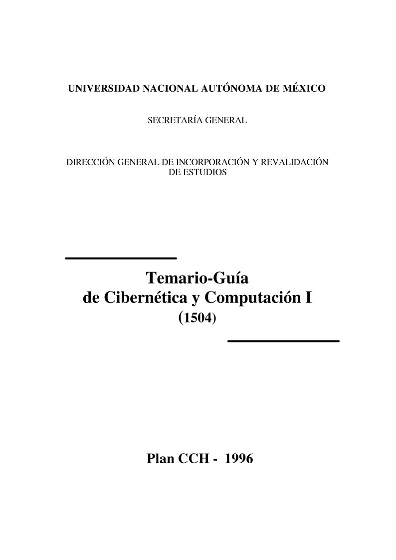 PDF de programación - Guía de Cibernética y Computación I