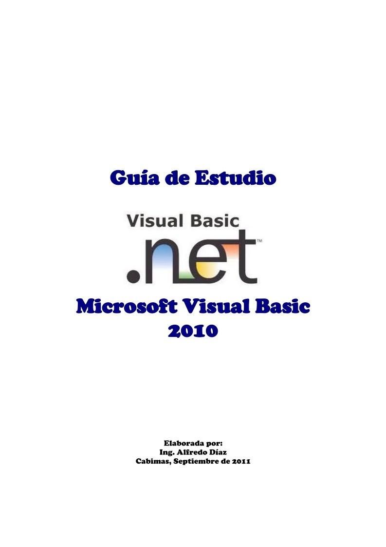 PDF de programación - Visual Basic NET 2010 - Guía de Estudio