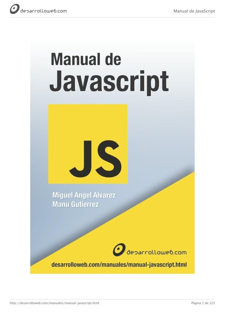 PDF de programación   Manual de Javascript