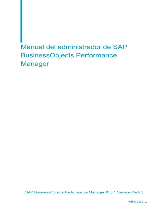 Imágen de pdf Manual del administrador de SAP BusinessObjects Performance Manager