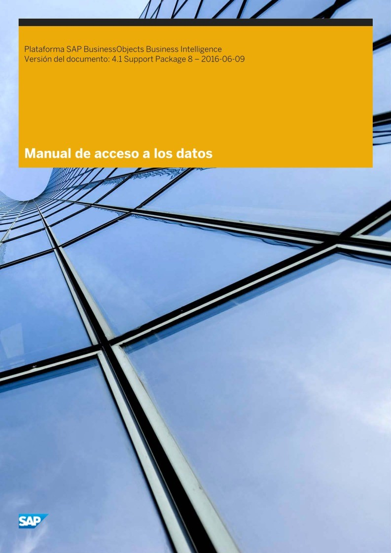 Imágen de pdf Manual de acceso a los datos - Plataforma SAP BusinessObjects Business Intelligence