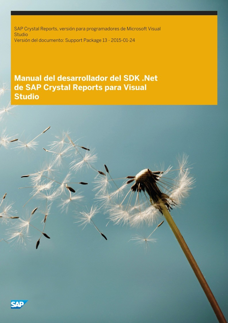 Imágen de pdf Manual del desarrollador del SDK .Net de SAP Crystal Reports para Visual Studio