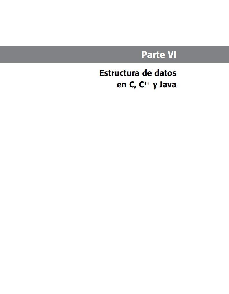 Pdf De Programación Parte Vi Estructura De Datos En C
