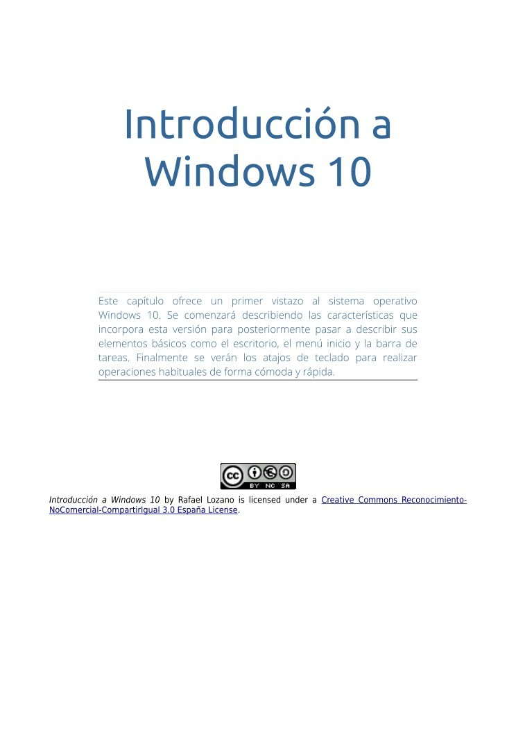 Imágen de pdf Introducción a Windows 10
