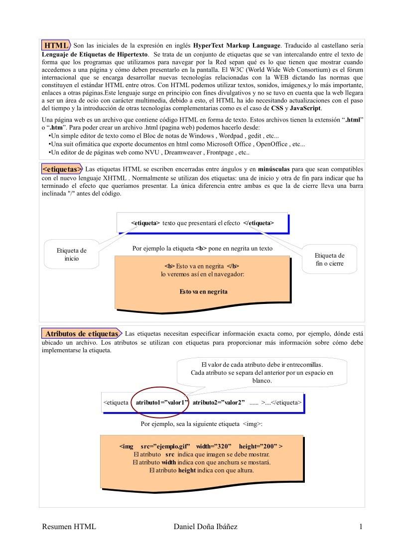 Pdf De Programacion Html Apuntes Teoria - Espacio-en-blanco-html