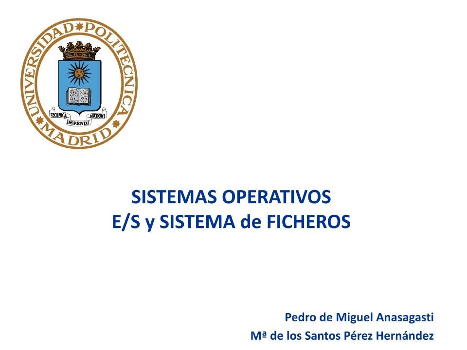 Pdf De Programación Sistemas Operativos E S Y Sistema De