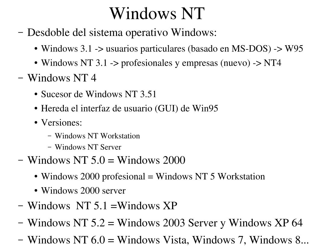 Imágen de pdf Windows NT