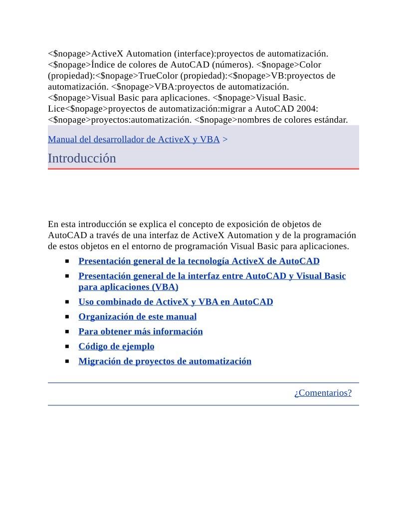 PDF de programación - Manual del desarrollador de ActiveX y VBA