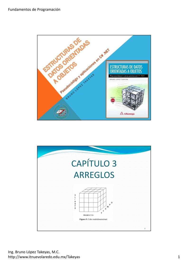 Pdf De Programación 03 Arreglos Estructuras De Datos