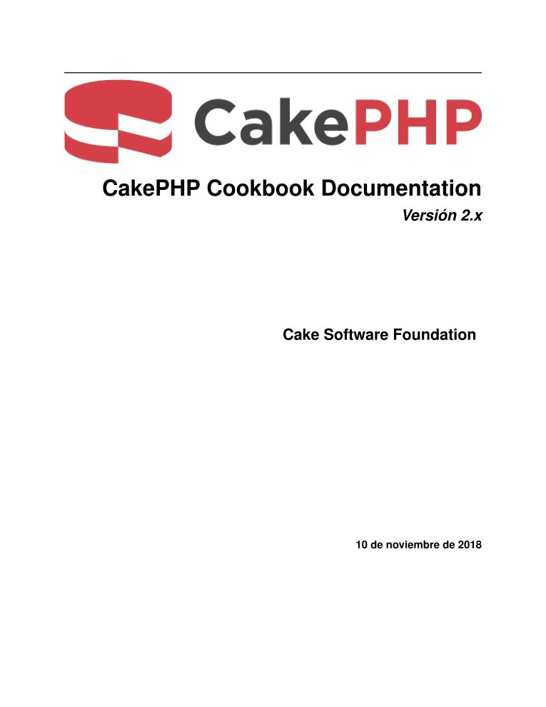 Imágen de pdf CakePHP Cookbook Documentation