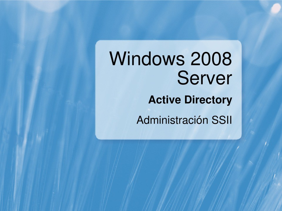 Imágen de pdf Windows 2008 Server - Active Directory - Administración SSII