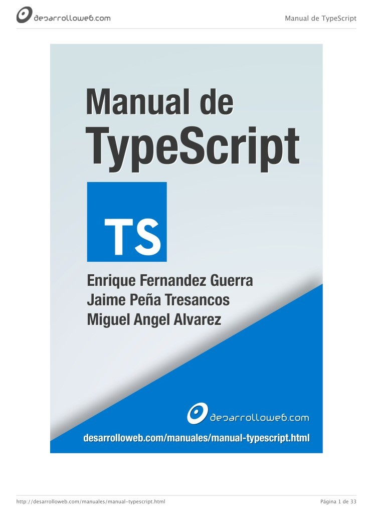 Imágen de pdf Manual de TypeScript